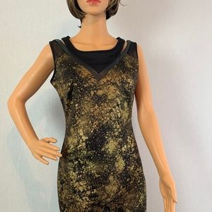 NY Collection Gold Shimmer Dress